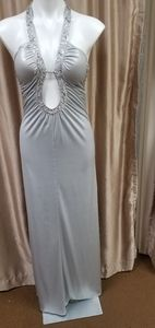 Sliver Metallic Gown